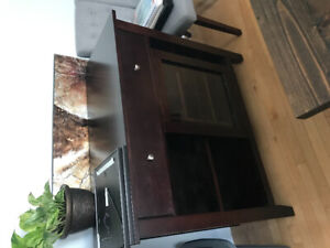 Cherry wine cabinet $250 no scratches
