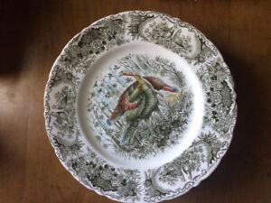 Windsor Ware Turkey Plates and Platter Johnson Bros