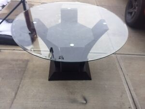 New modern glass table
