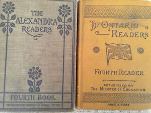 Lot of 2 Fourth Readers, Hardcover Antique books