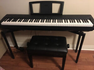 Yamaha P35B Digital Piano with piano stand and Bench