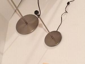 ENSEMBLE LAMPE SUR PIED ET DE TABLE STAINLESS MAT IKEA