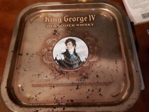 king george IV old scotch whiskey tray