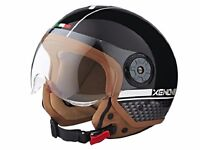 New Motorbike Safety Helmet Open Face Motorcycle - Vespa Jet With Drop Down Wind Visor