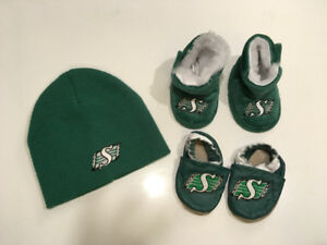 Baby Roughrider Toque and Slippers