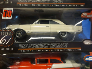 Highway 61 1967 Plymouth Satellite 1:18 diecast 3 to choose