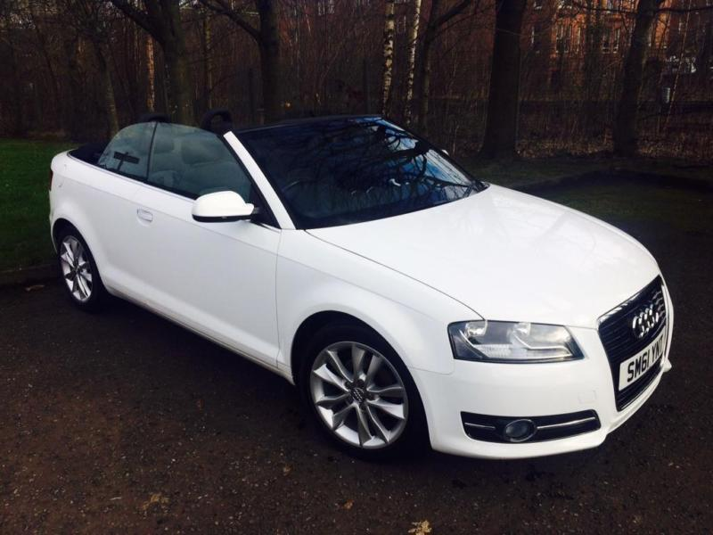 2012 audi a3 cabriolet 1 6 tdi sport convertible 2dr diesel manual 114 in hyndland glasgow. Black Bedroom Furniture Sets. Home Design Ideas