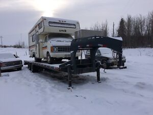 2015 Precision 34 FT Gooseneck Trailer with 14 in pierced frame
