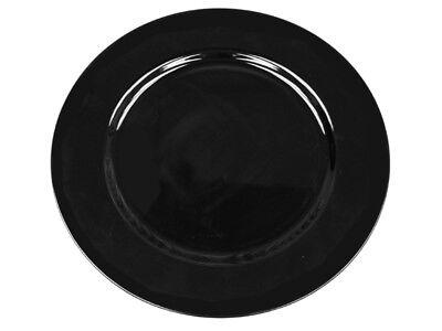 "24 Pcs 13"" Black Acrylic Charger Plates Wedding Reception..."