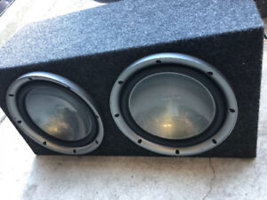 """2x12"""" subwoofer in box (Kenwood)"""