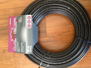 Low loss coaxial cable.