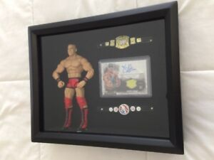 John Cena WWE Wrestling Shadow Box Display with Autograph