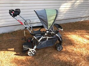 Sit to stand double stroller