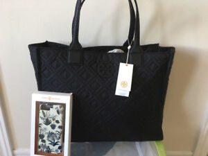 Tory Burch Quilted Nylon Tote Authentic and Phone Case I7