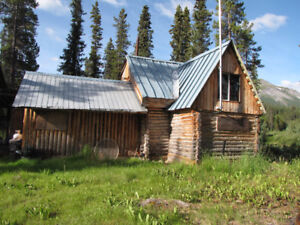 Log Cabin on big creek for rent northern British Columbia
