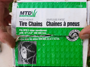 Snow thrower chains available brand new inbox