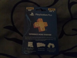 Playstation Plus new card never used