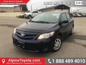 2013 Toyota Corolla CE   Low km, heated seats, air conditioning,