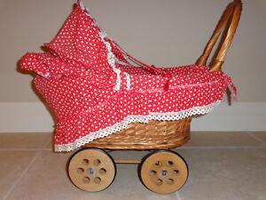 Vintage Wicker Doll Stroller Kitchener / Waterloo Kitchener Area image 1