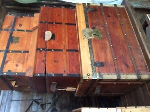 Refinished Antique Wooden trunks