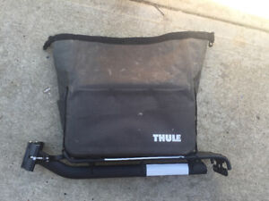 seat post rack and thule touring bag