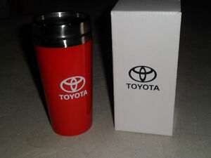 TOYOTA COFFEE MUG RED - STAINLESS STEEL INSIDE - NEW