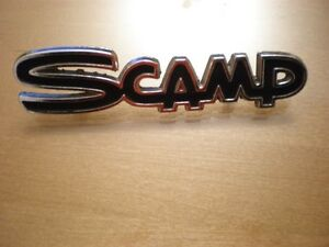 Plymouth Scamp name plate