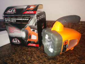 16 LED Rechargeable Spotlight - NEW, never used.  $25 FIRM