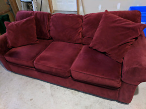 Microfiber full sized couch - very comfy!!