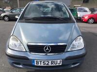 2002 Mercedes-Benz A Class 1.4 A140 A+ SWB Hatchback 5dr
