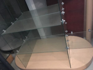 Rolling Merchandise Display / Glass Jewelry Cabinet