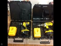 DeWalt drills x 2 in cases