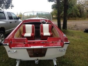 For sale 1962 13 foot Brunswick cutter boat and trailer