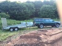 L200 2.5td and plant trailer