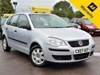 2007 VOLKSWAGEN POLO 1.2 E 63 BHP! 2 F/KEEPERS+NEW EXHAUST 2017+AUXUSB+B/TOOTH!