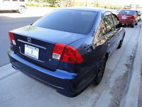 """2005 Honda Civic 1.7  """" WITH SAFETY AND EMISSION """"   $3400."""