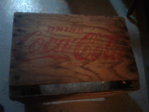 Vintage/antique Wooden Coke crates all original