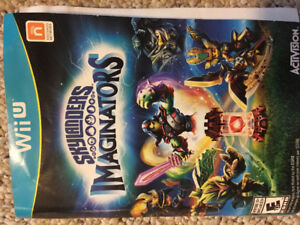 WiiU Skylanders Imaginators game + figures
