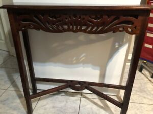 Cherrywood console table
