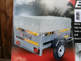 Erde 163 trailer extension bars and cover