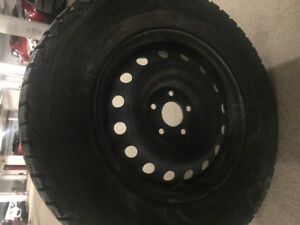 Winter tires on rims size 18
