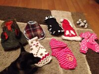 Assorted size xs dog clothes