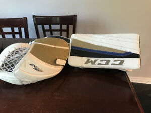 Goalie CCM Glove and Blocker - Intermediate