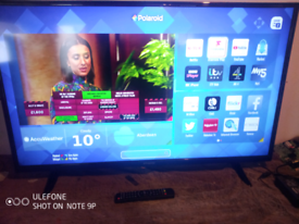 """43"""" Polaroid smart LED TV with remote control"""