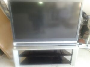 """Sony 55""""  projection TV sale as is ."""