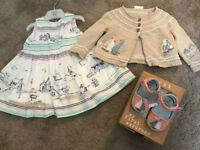 Next baby girl outfit 0-3 months (shoes are new)