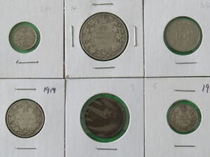 Canada Coin Type Set King George V (6pcs)