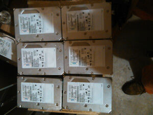 $40 · Lot of 6-73gb 15,000 rpm fibre hard drives
