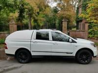 17 PLATE SSANGYONG MUSSO 2.2 EX DOUBLE CAB PICK UP AUTO 19,596 MILES STUNNING