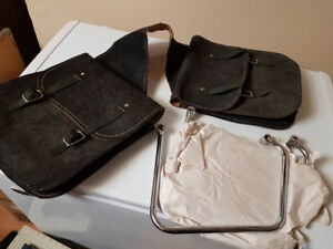 Messenger suede saddle bags for motorcycle